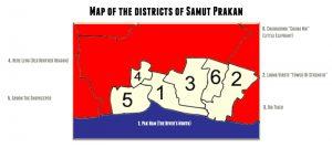 Bangkok series map of districts